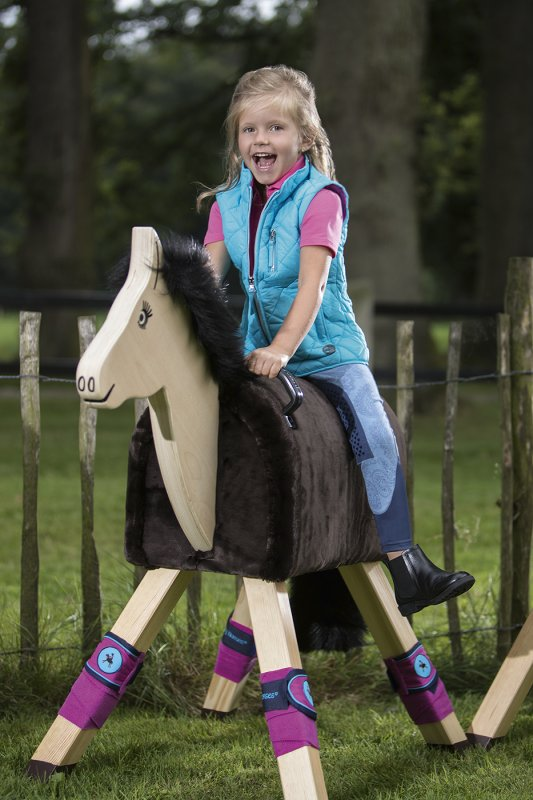 HKM Polarfleecebandagen -Funny Horses-