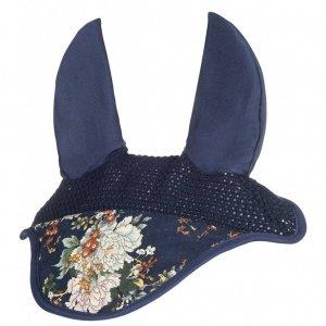 HKM Fliegenhaube -Blue Flower-