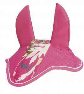 HKM Fliegenhaube -Pink Floral-
