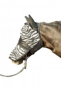HKM Fliegenschutzmaske -Zebra- mit Nüsternschutz