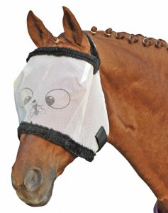 HKM Fliegenschutzmaske mit Teddyrand -Funny-