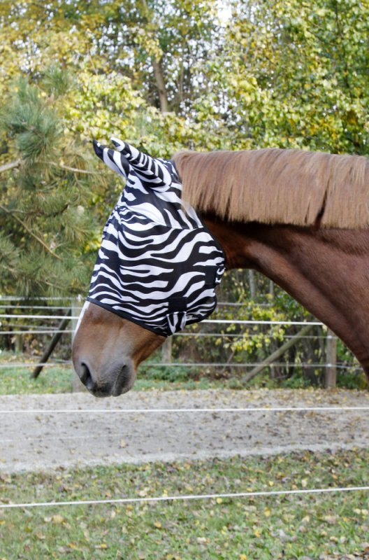 Kerbl Fliegenschutzmaske Zebra