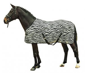 HKM Fliegendecke -Zebra- mit Kreuzgurt