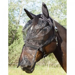 German Riding Halfter mit integrierter Fliegenmaske