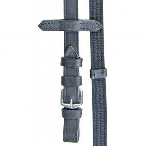HKM Zügel aus Gurtband mit Lederstopper