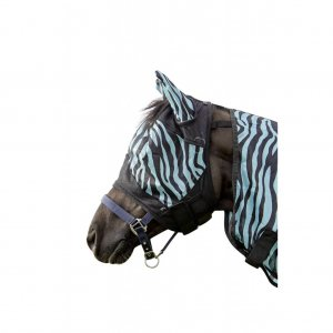 HKM Fliegenschutzmaske -Zebra Aqua-