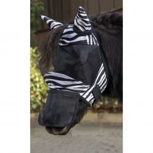 HKM Fliegenschutzmaske -Zebra- Shetty